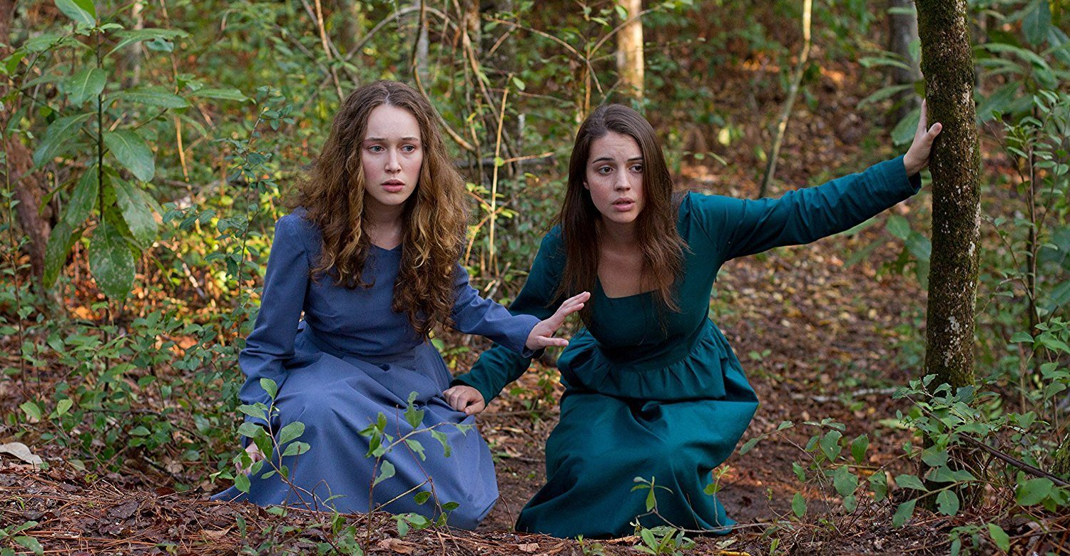 Mary (in a blue dress) and Ruth (in a green). Hiding.